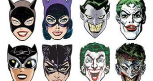 DC 80th Anniversary Masks Coming To Comic Shops Joker and Catwoman